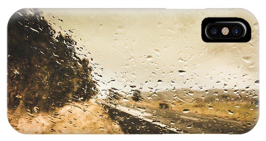 Driving IPhone X / XS Case featuring the photograph Weather Roads by Jorgo Photography - Wall Art Gallery