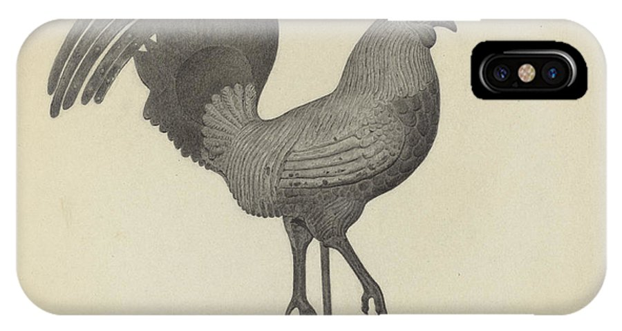 IPhone X Case featuring the drawing Weather Vane by Helen Blumenstiel
