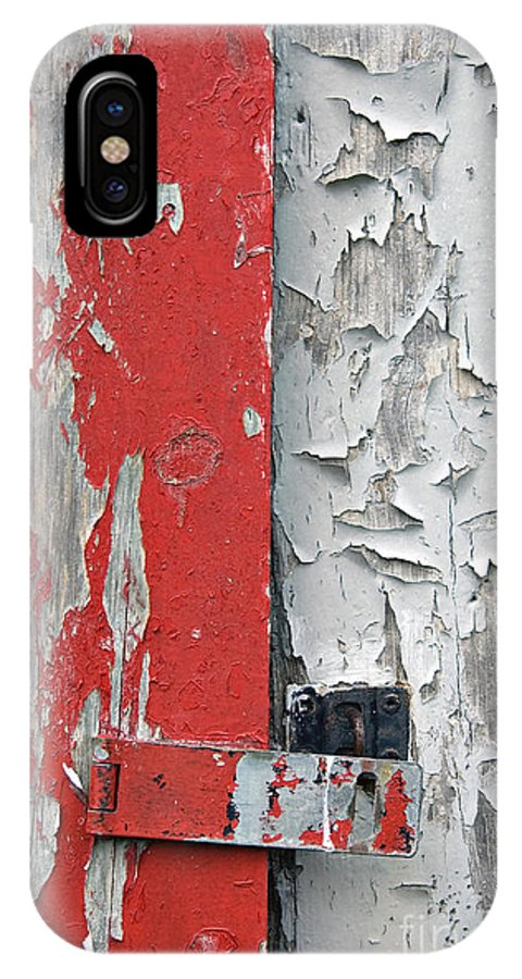 Red IPhone Case featuring the photograph Weathered by Jacqueline Milner