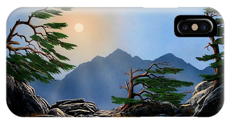 Weathered Warriors IPhone X Case featuring the painting Weathered Warriors by Frank Wilson