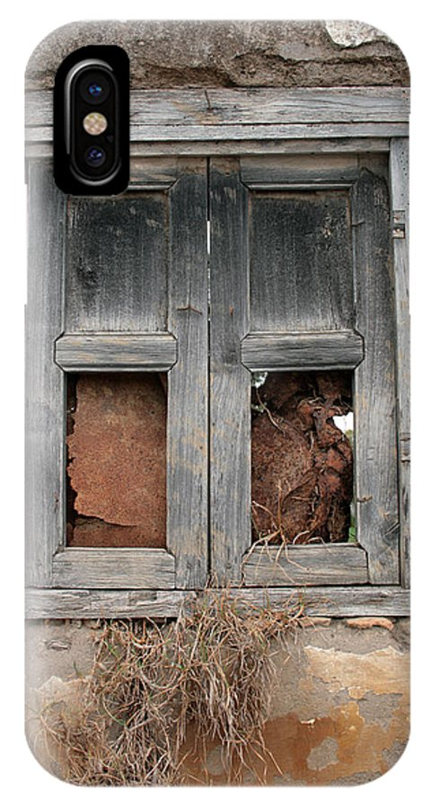 Window IPhone X / XS Case featuring the photograph Weathered Wood Window by Robert Hamm