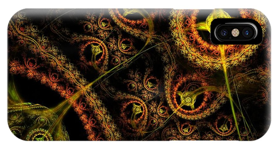 Fractal IPhone X Case featuring the digital art Weaveworld by Lyle Hatch