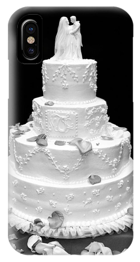 Wedding IPhone Case featuring the photograph Wedding Cake by Marilyn Hunt