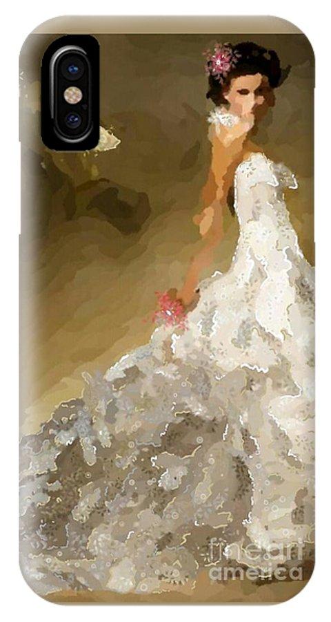 Uzart IPhone X Case featuring the digital art Wedding Day #0072 by Urszula Zogman