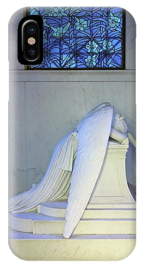New Orleans IPhone X Case featuring the photograph Weeping Angel by Phil Rowe