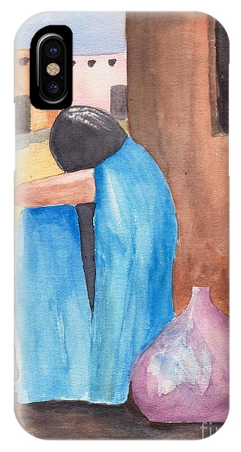 Southwest IPhone X Case featuring the painting Weeping Woman by Susan Kubes