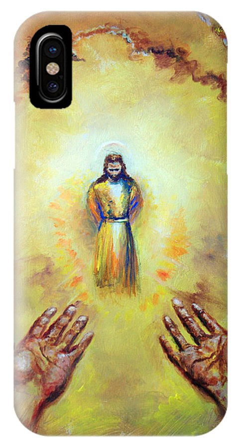 Jesus Christ IPhone X Case featuring the painting Welcome Home by Tommy Winn
