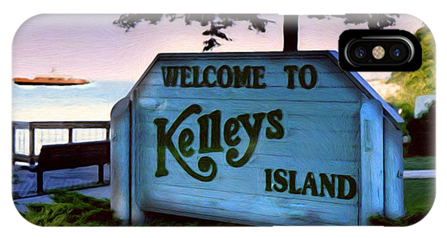 Island IPhone X / XS Case featuring the painting Welcome To Kelleys Island by Kenneth Krolikowski