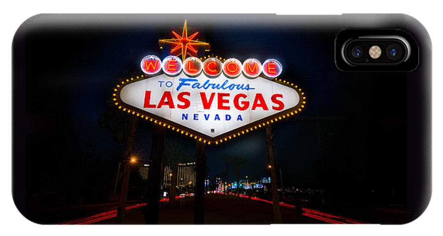 Casino IPhone X Case featuring the photograph Welcome To Las Vegas by Steve Gadomski