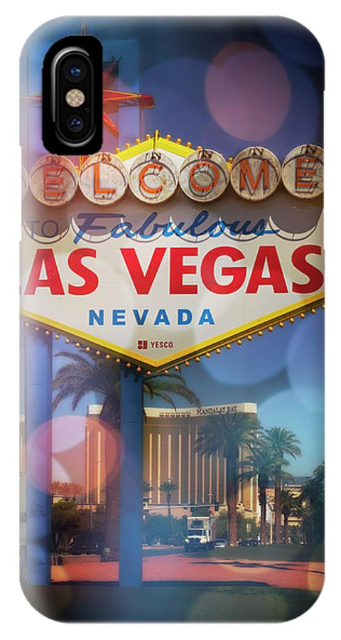 Las IPhone X Case featuring the photograph Welcome To Vegas Xii by Ricky Barnard