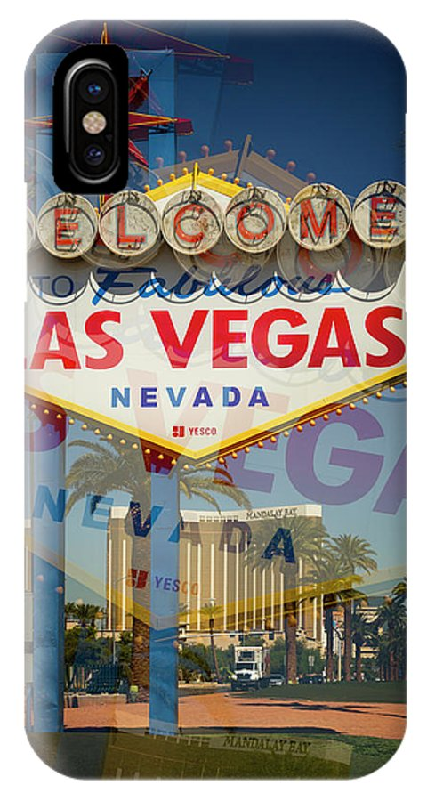 Las IPhone X Case featuring the photograph Welcome To Vegas Xiii by Ricky Barnard