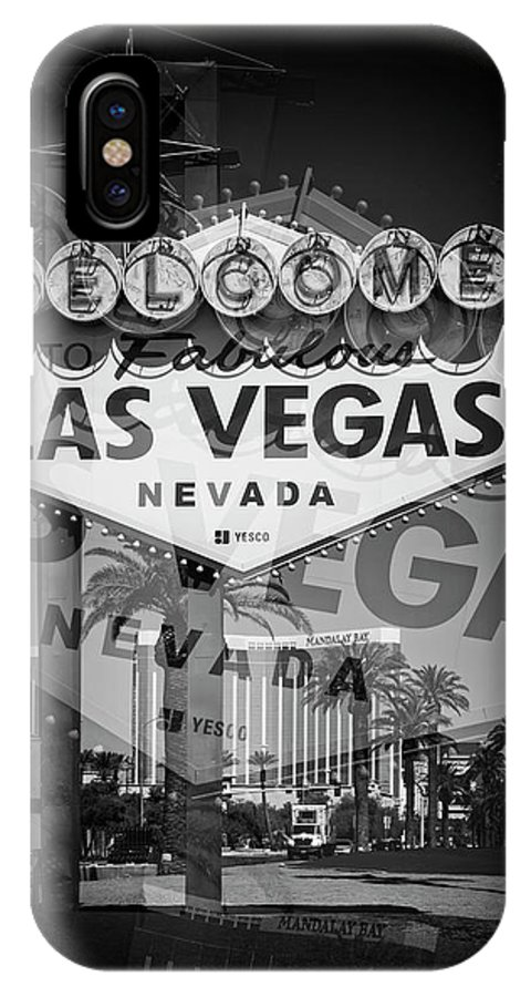 Las IPhone X Case featuring the photograph Welcome To Vegas Xiv by Ricky Barnard