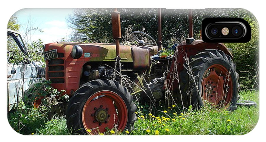 Tractor IPhone X Case featuring the photograph Well And Truely Retired by Susan Baker