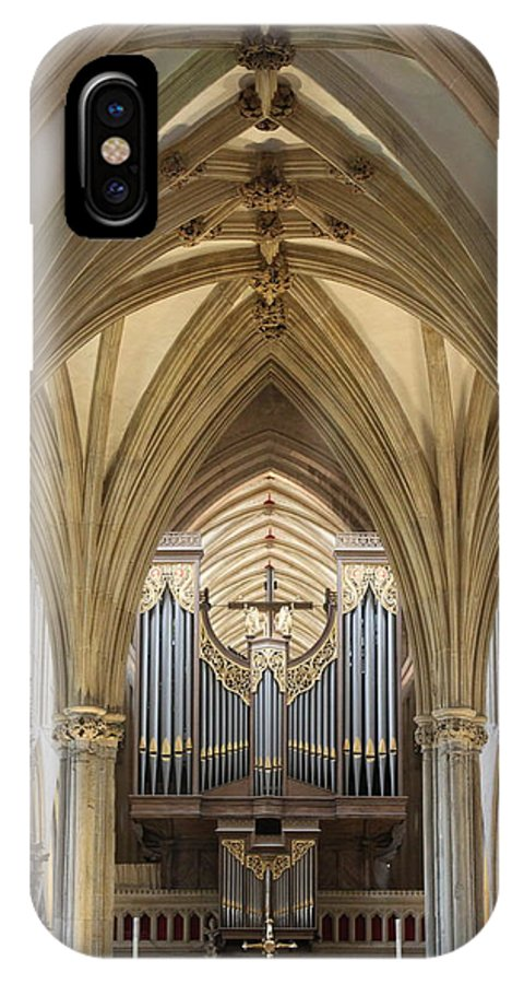 Wells Cathedral IPhone X Case featuring the photograph Wells Cathedral Pipe Organ by Lauri Novak