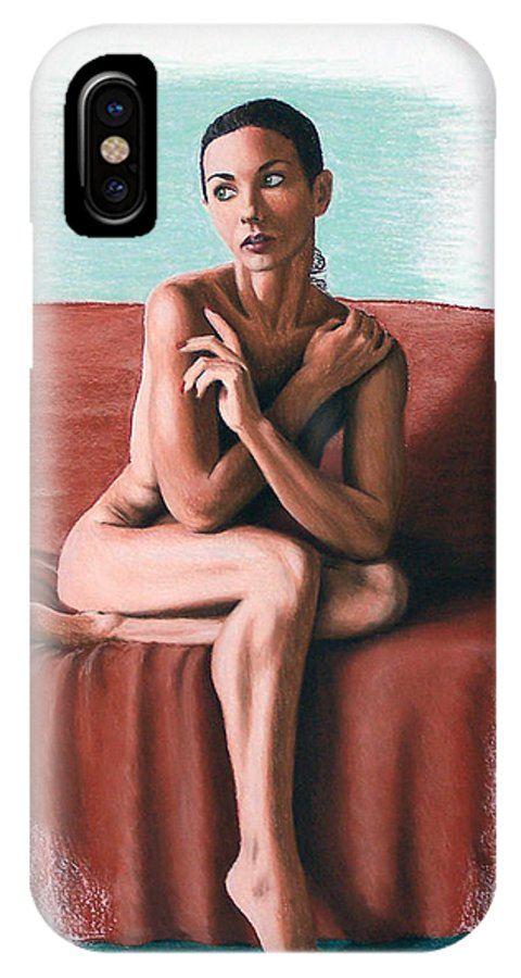 Joe Ogle IPhone X Case featuring the painting Wenona Exposed by Joseph Ogle