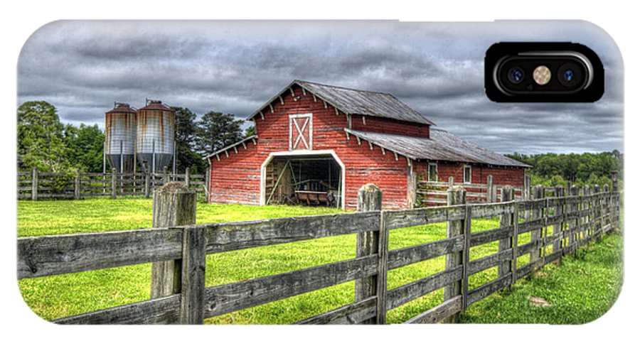 Barn IPhone X Case featuring the photograph West Georgia Barn by Patrick Henrickson