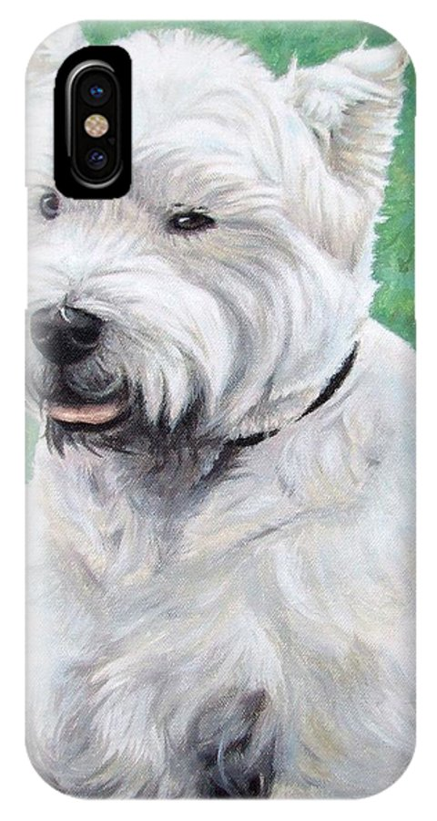 Dog IPhone X Case featuring the painting West Highland Terrier by Nicole Zeug