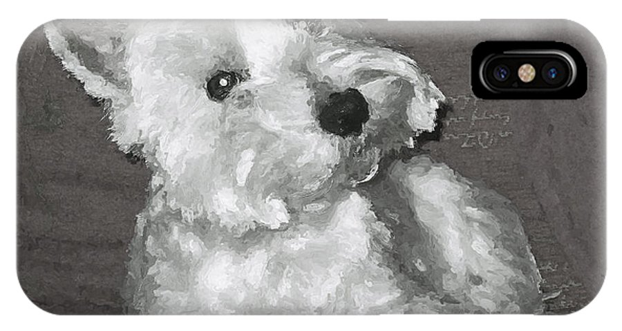 Westie IPhone X Case featuring the digital art West Highland White Terrier by Charmaine Zoe