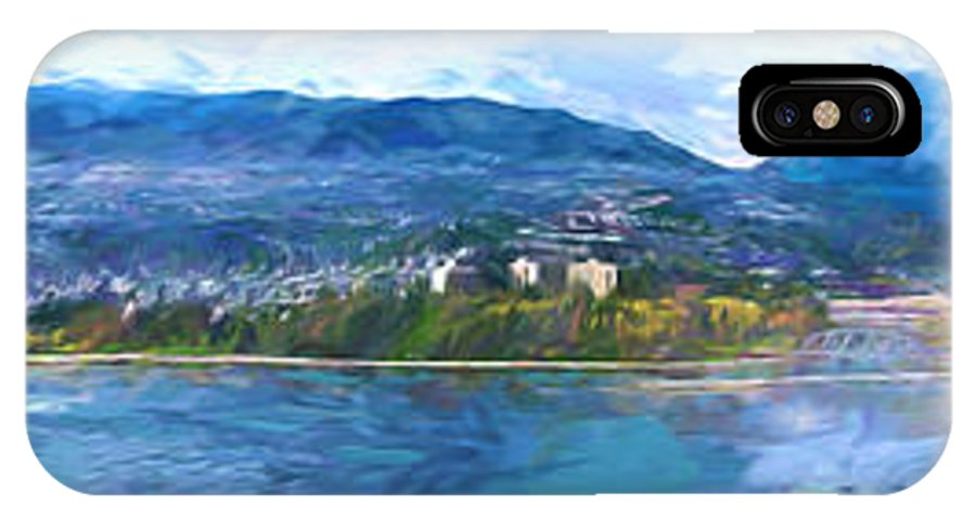 Skyline.west Vancouver IPhone X Case featuring the painting West Vancouver by Jim Hatch