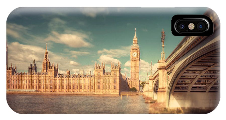 Westminster IPhone X / XS Case featuring the photograph Westminster Big Ben by Nadia Di Silvestro