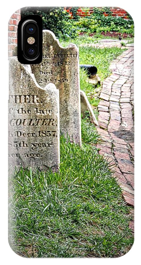 Westminster IPhone X / XS Case featuring the photograph Westminster Burying Ground by Doug Swanson