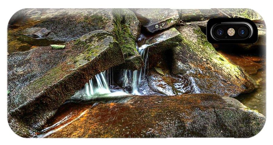 Ricketts IPhone X Case featuring the photograph Wet Rocks by Scott Wyatt