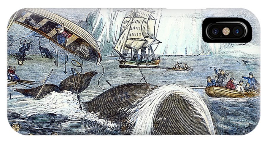 1833 IPhone X Case featuring the photograph Whaling, 1833 by Granger
