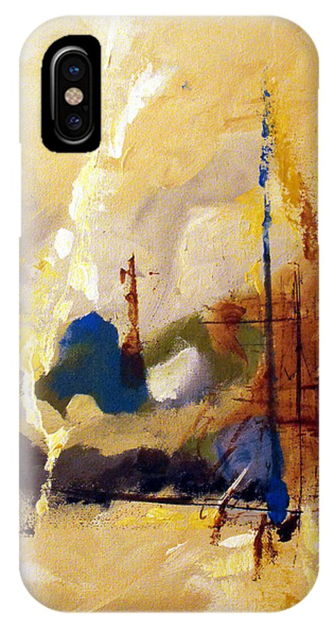 Abstract IPhone Case featuring the painting Wharf by Ruth Palmer