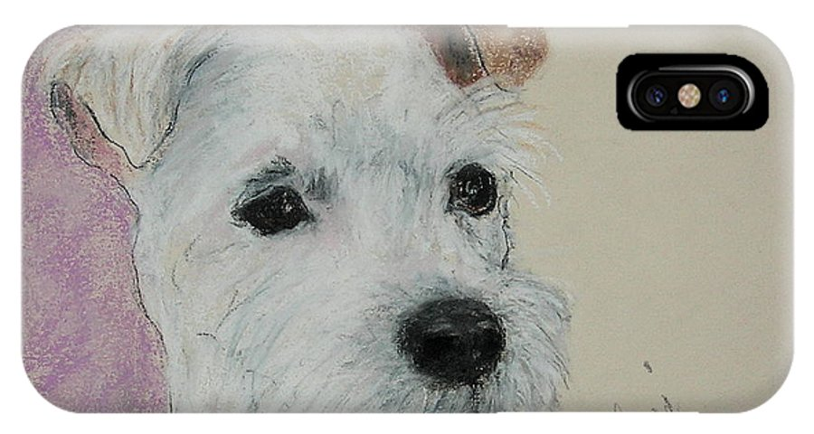 Pastel IPhone X Case featuring the drawing What A Riot by Cori Solomon