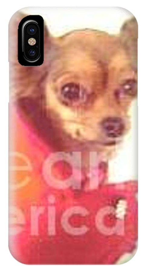 Pet IPhone X Case featuring the photograph What Big Eyes You Have by Carol Wisniewski