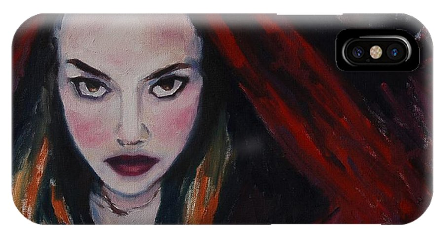 Little Red Riding Hood IPhone X Case featuring the painting What Big Eyes You Have by Khairzul MG