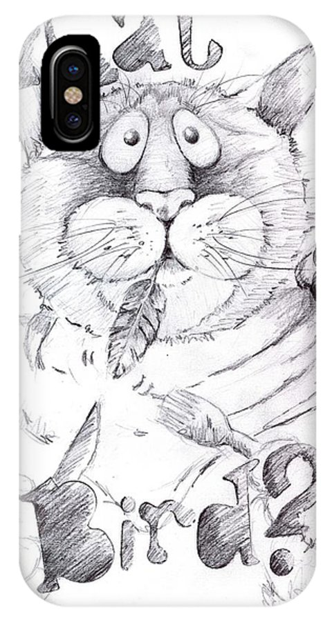 Charity IPhone Case featuring the drawing What Bird by Mary-Lee Sanders