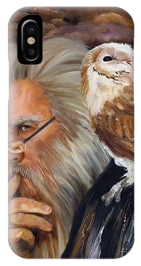 Wizard IPhone X Case featuring the painting What If... by J W Baker