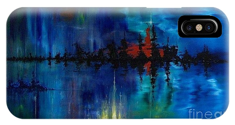 Non Objective IPhone Case featuring the painting What Lies Beneath by M J Venrick