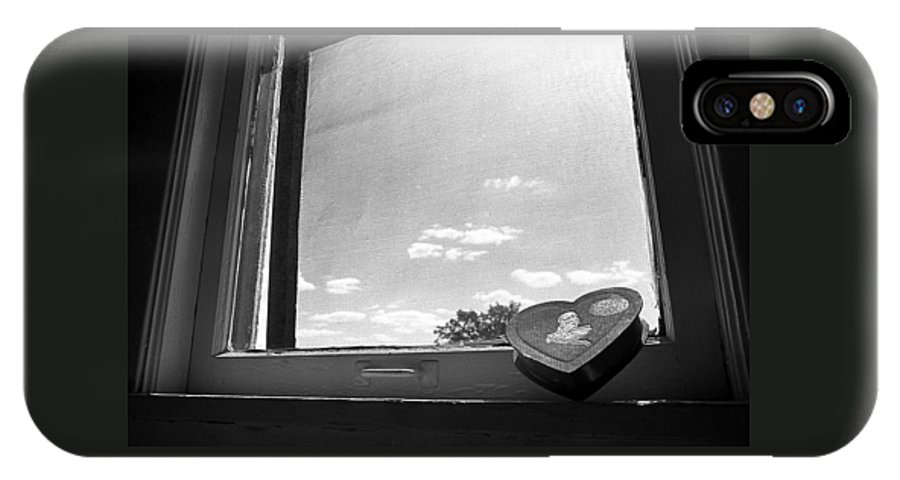Window IPhone X Case featuring the photograph What Remains by Ted M Tubbs