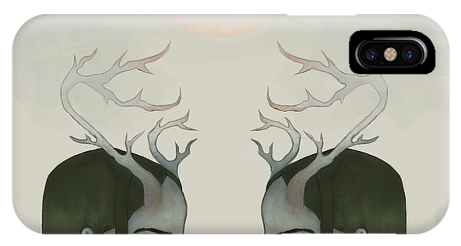 Digital Art IPhone X Case featuring the digital art What We Wish We Didn't Have by Christine M
