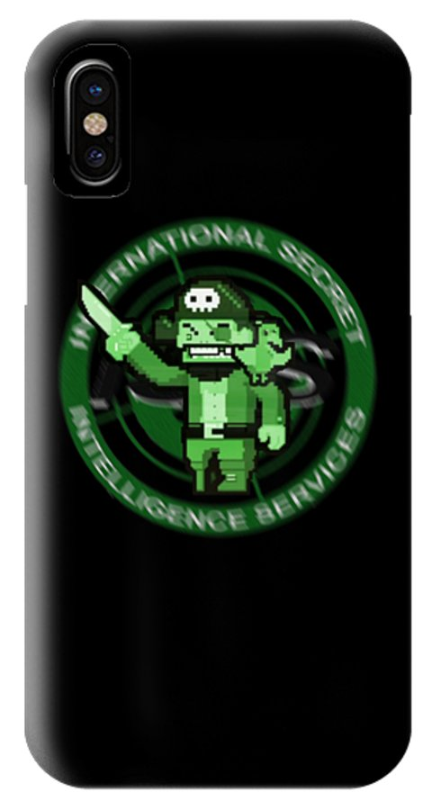 Archer IPhone X Case featuring the digital art What What? by Gazz Wood