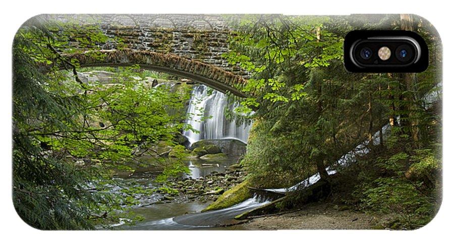 Bridge IPhone X Case featuring the photograph Whatcom Falls Bridge by Idaho Scenic Images Linda Lantzy