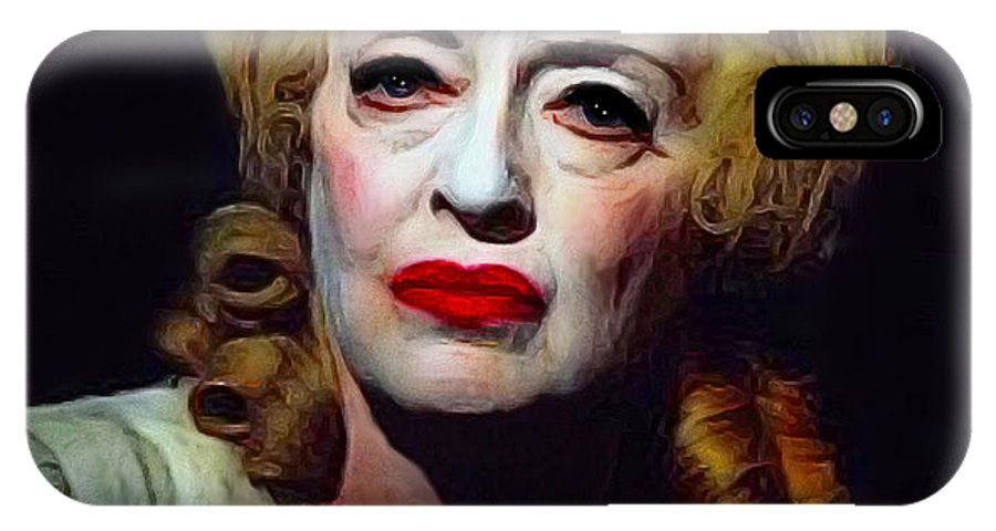 Bette IPhone X / XS Case featuring the painting Whatever Happened To..... by Steve Jarrett