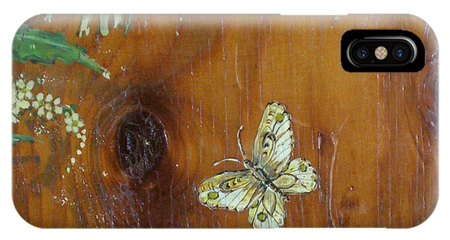 Wildflowers IPhone Case featuring the painting Wheat 'n' Wildflowers II by Phyllis Mae Richardson Fisher