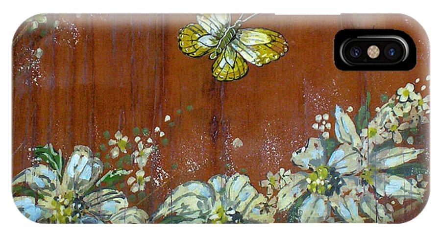 Wildflowers IPhone X Case featuring the painting Wheat 'n' Wildflowers IIi by Phyllis Mae Richardson Fisher