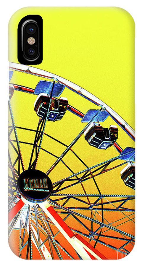 Wheel IPhone X / XS Case featuring the photograph Wheel Of Fun by Steve C Heckman