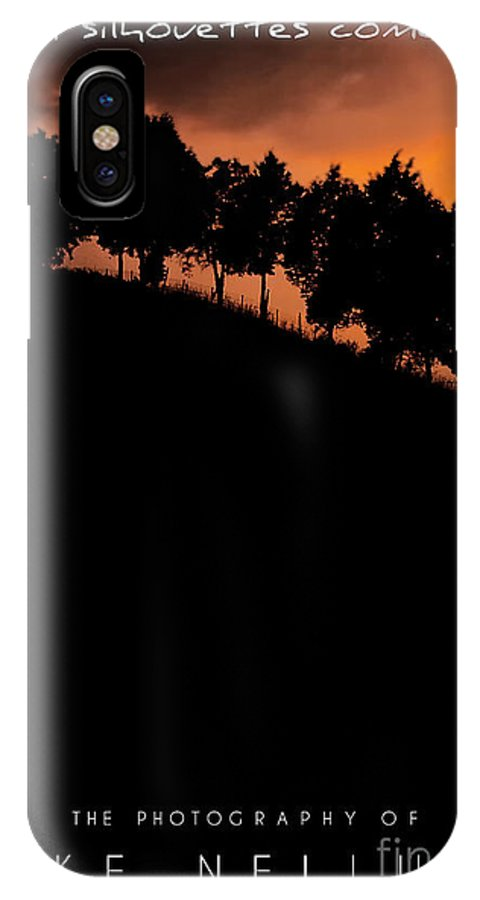 Silhouettes IPhone X Case featuring the photograph When Silhouettes Come Out Coffee Table Book Cover by Mike Nellums