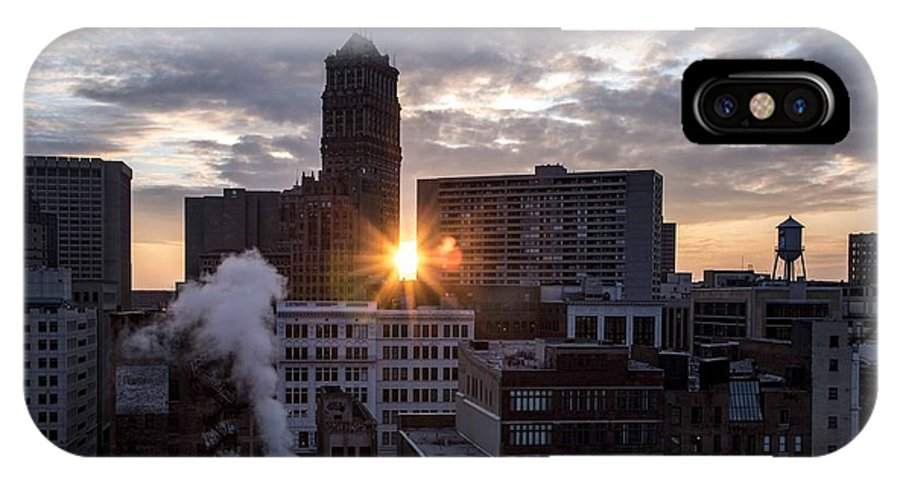 Detroit IPhone X Case featuring the photograph When The City Sleeps by Amber Yaksich