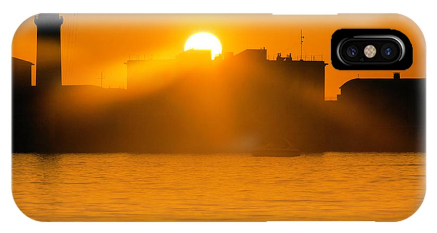 Sunset IPhone X / XS Case featuring the photograph When The Sun Sets by Wolfgang Stocker