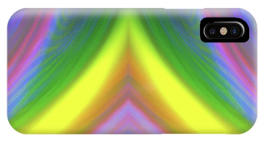 Whimsical IPhone X Case featuring the digital art Whimsical #114 by Barbara Tristan
