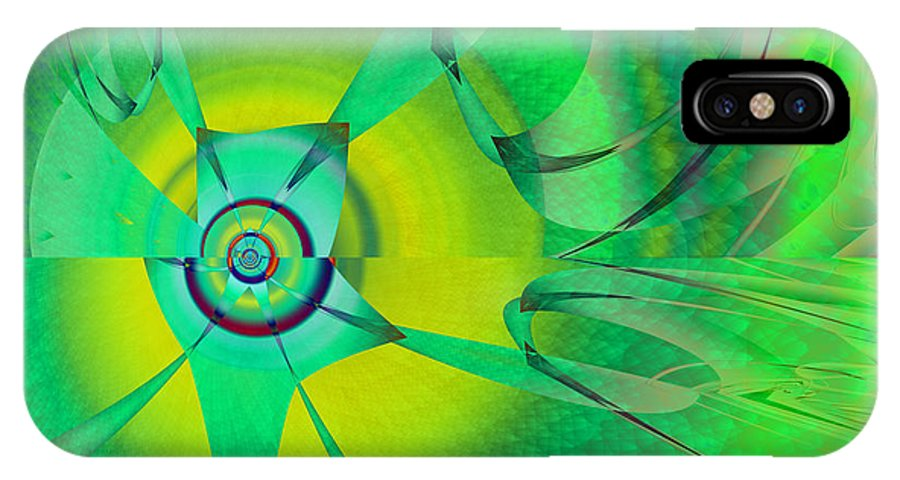 Whimsical IPhone X Case featuring the digital art Whimsical by Frederic Durville