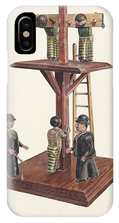 IPhone X Case featuring the drawing Whipping Post by Edward L. Loper