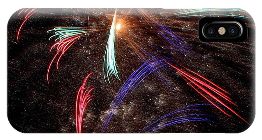Fireworks IPhone X Case featuring the photograph Whirley-gig by Mina Thompson