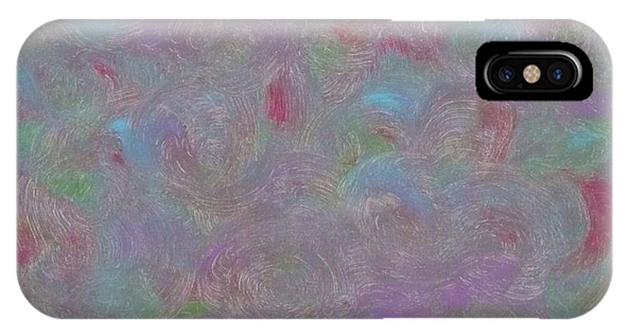 Acrylic IPhone X Case featuring the painting Whirling Dervish by Barb Montanye Meseroll
